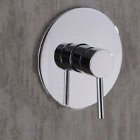 Modern Shower Mixer Valve Only Brass Round Concealed Chrome Single Stick
