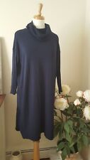 GAP Navy Cowl Neck Long Sleeve Ribbed Sleeve Sweater Dress Size Large L NWT