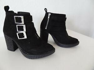 STEEL GROUND Vegan Shoes Schuhe Stiefellette Stiefel Schwarz Gr 36 Neu Etikett