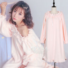 Kawaii new Lolita Harajuku Elegant Princess Winter Sleepwear Nightdress Dress