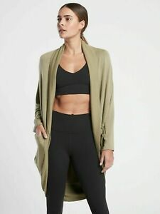 ATHLETA Ethereal Cocoon Wrap XXS/XS Shadow Olive Commute #980125
