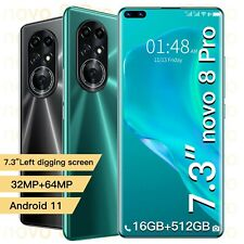 "2021 Newest Novo 8 Pro 7.3"" Smartphone Latest 10Core 6800mAh 16+512GB"
