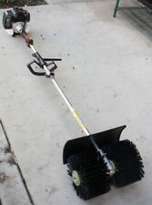 52cc HAND HELD WALK BEHIND SWEEPER BROOM TURF LAWNS SNOW DRIVEWAY CLEANING