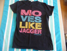 """Maroon 5 """"Moves Like Jagger"""" T-Shirt Womens Large Black 2011 Official"""