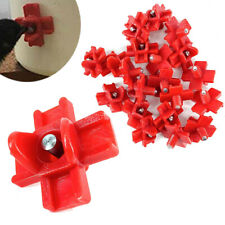 20pcs Poultry Water Nipples Chicken Water Nipples Auto Poultry Waterer Red