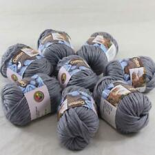 Lot of 8BallsX50g Chunky Cotton Special Smooth Scarf Hand Knitting Yarn Mom Gray