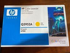 Genuine HP 643A Print Cartridge Yellow Q5952A LaserJet 4700 ColorSphere HP Toner