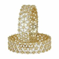 Indian Bollywood Diamond American Bangles Bracelet Jewelry Gold Plated Womens