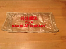 "Vintage TWA Airlines ""Reserved for Cabin Attendant"" Airplane Plastic Seat Cover"