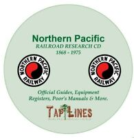 NORTHERN PACIFIC RR OFFICIAL GUIDES,  EQUIPMENT REGISTERS & RESEARCH ON DVD