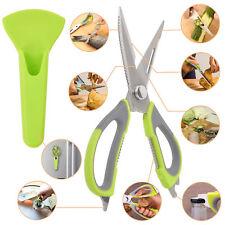 Multi-Purpose Kitchen Scissors Razor-Sharp Cooking BBQ Stainless Steel Shea