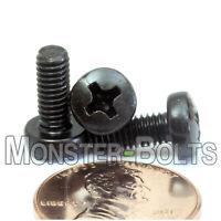 M4 x 10mm  Phillips Pan Head Machine Screws, Steel w/ Black Oxide  DIN 7985A
