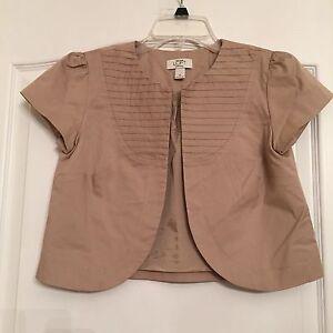 Ann Taylor Loft Woman's Cropped Jacket/Blazer - Tan - Size 2 - NWOT
