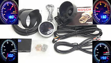 RSR 60mm Breitband Lambda Anzeige + Bosch 4.9 LSU ALARM Wideband Gauge Dual O2 R