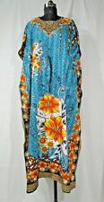 Gorgeous Long Kaftan, Boho Flower Print Caftan, Beachwear, Night Gown, Free Size