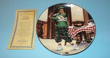 The Honeymooners Hamilton Collection Collector's Plate The Golfer Coa