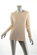 BRUNELLO CUCINELLI Tan w/Hint of Gold Fine Cashmere Blend Tunic Sweater  Sz XXL