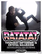 RATATAT 2010 PORTLAND CONCERT TOUR POSTER - Roctronica Music, Alt Electronica