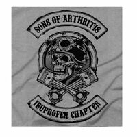 Men's Biker Sons Of Anarchy Funny Gift For A Biker Grey T-Shirt Free UK Delivery