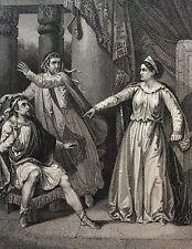 Corneille Rodocune Cleopatre acte 2 publié par Furne  gravure sur acier XIXe