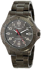 Timex Men's Analog Quartz 12/24 Hour Gunmetal Brass/Stainless Steel Watch T2P390