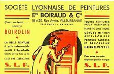 BUVARD / PUBLICITAIRE / PEINTURE BOIROLIN / BOIRAUD VILLEUBARNNE