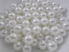 300pcs 10mm Acrylic Faux Imitation Pearl Round Beads - LUSTER WHITE M08