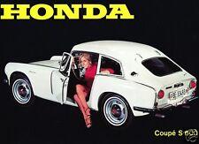 1967 Honda S600 Coupe, WHITE, Refrigerator Magnet, 40 MIL