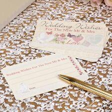 Nuevo Boda Con Amor Vintage Floral Pájaros Del Amor Pack De 25 Boda deseos Tarjetas