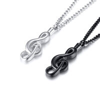 Urns Necklace Musical Note Shape for Human Ashes