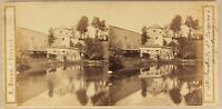 Germania Augsburg St.Jacques c1860 Foto A. Braun Stereo Vintage Albumina