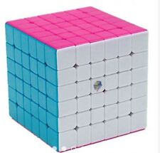 Yuxin Zhisheng Red Kirin 6x6x6 Speed Rubik's Cube - PINK STICKERLESS