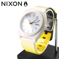 Nixon Time Teller Watch - White/Yellow Fade