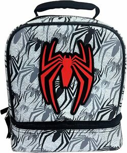 NEW Marvel Spider-Man GamerVerse Insulated Double Compartment Kids Lunch Bag