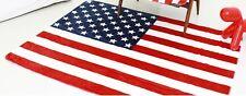 "Stars and Stripes US Flag Throw Blanket 63*51"" 160*130 cm fleece-like micofiber"