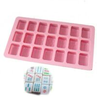Chinese Mahjong Silicone Soap Mold Chocolate Ice Cube Candy Cake Making Mold