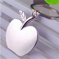 Girl Gift Creative Apple Shaped Fruit Metal Jewelry Key Chain Pendant Key Ring