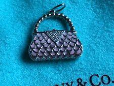 $2700 Tiffany & Co. Platinum Diamond Purse Handbag Pendant Charm PT 950 Pink new