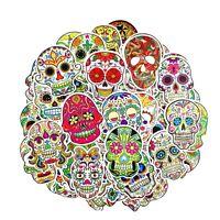 10 pcs Bright Sugar Skulls Stickers Mexican Day Dead Stickers Mixed Stickerbomb