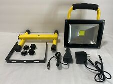 30W Rechargeable LED Work Light Flood Lights with Stand for Workshop Outdoor