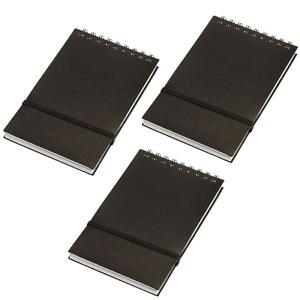 3x Stone Paper Notebook Spiral Bound Waterproof - Black