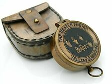 Yellow Submarine Poem Brass Compass Beatles Finder Face Compass W/Case