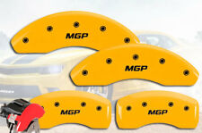 "2003-2006 Saturn Ion Front + Rear Yellow ""MGP"" Brake Disc Caliper Covers 4p Set"