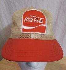 Vtg COCA COLA Salesman ALL MESH & Patch Snapback HAT Made In USA Soda Coca Cola