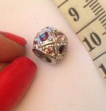 zx beautiful white gold plated sparkly pink crystal  charm