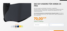 Schuberth Visier C3/Pro/S2 Sport  Pinlock-Ready dark smoke 80% getönt Gr.60-65