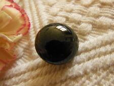 bouton ancien ceramique noir anthracite bombé vintage  1,9 cm D6E