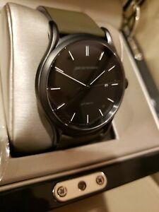 NEW Armani ARS3016 Men's Swiss Made Black Dial Automatic Watch 42mm mvmt STP1-11
