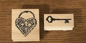 Limited Edition Club Scrap rubber stamp Heart and Key