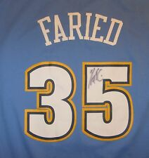 Autographed NBA Denver Nuggets Kenneth Faried Jersey, Adidas, Blue, Size 2XL